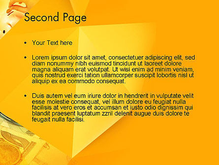 Financial Yellow Origami PowerPoint Template Slide 2