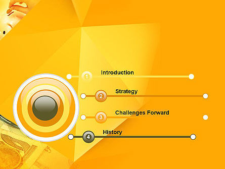 Financial Yellow Origami PowerPoint Template Slide 3