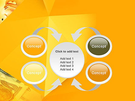 Financial Yellow Origami PowerPoint Template Slide 6