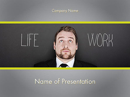 Careers/Industry: Life Work Balance PowerPoint Template #11967
