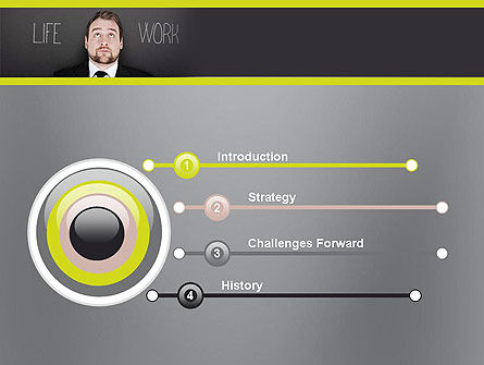 Life Work Balance PowerPoint Template, Slide 3, 11967, Careers/Industry — PoweredTemplate.com