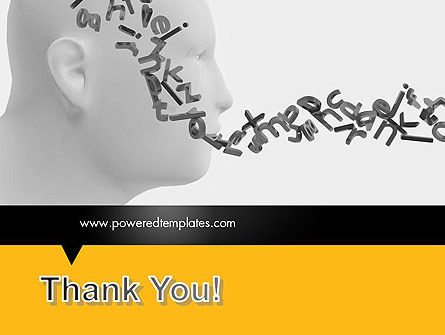 Generating Words PowerPoint Template Slide 20