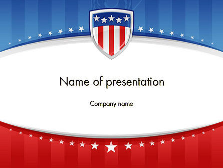 America: Patriotic Background PowerPoint Template #11971