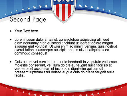 Patriotic Background PowerPoint Template Slide 2