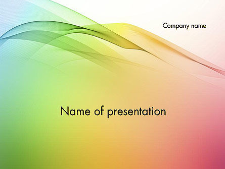 Abstract/Textures: Pastel Colors Wave Background PowerPoint Template #11972