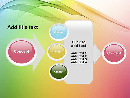 Pastel Colors Wave Background PowerPoint Template Slide 17