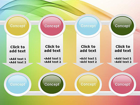 Pastel Colors Wave Background PowerPoint Template Slide 18