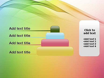 Pastel Colors Wave Background PowerPoint Template Slide 8