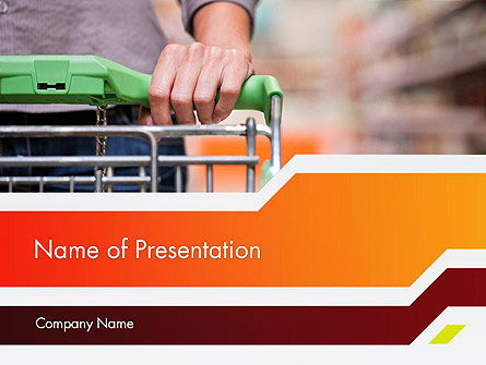 At Grocery Store PowerPoint Template