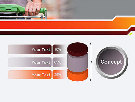 At Grocery Store PowerPoint Template Slide 11