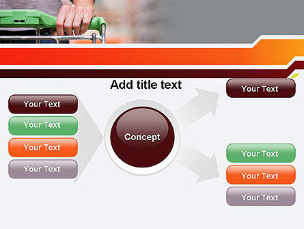At Grocery Store PowerPoint Template Slide 14
