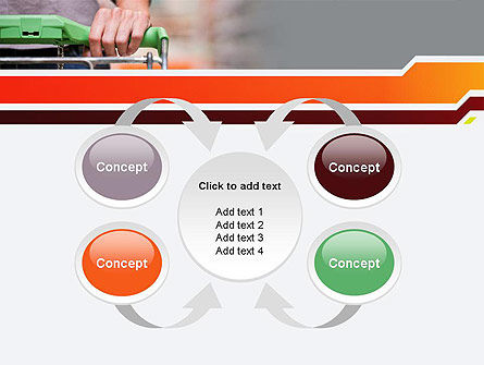 At Grocery Store PowerPoint Template Slide 6
