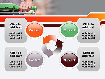 At Grocery Store PowerPoint Template Slide 9