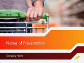 Careers/Industry: At Grocery Store PowerPoint Template #11973
