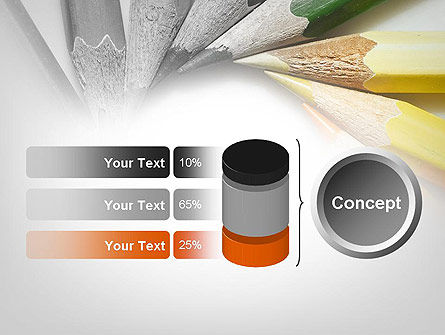 Pencils Arranged in Circle PowerPoint Template Slide 11