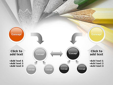 Pencils Arranged in Circle PowerPoint Template Slide 19
