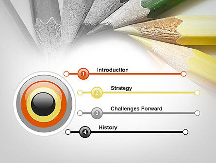 Pencils Arranged in Circle PowerPoint Template Slide 3