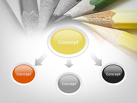Pencils Arranged in Circle PowerPoint Template Slide 4