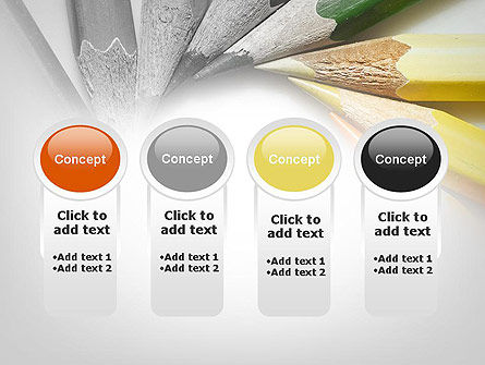 Pencils Arranged in Circle PowerPoint Template Slide 5