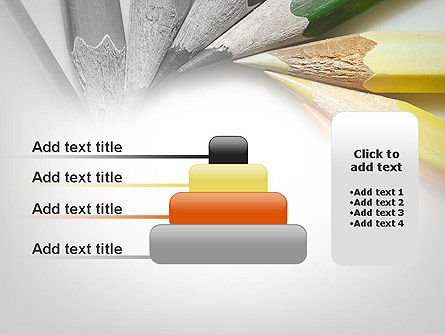 Pencils Arranged in Circle PowerPoint Template Slide 8