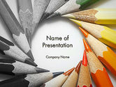Art & Entertainment: Pencils Arranged in Circle PowerPoint Template #11974