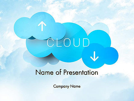 Cloud Technology Concept PowerPoint Template, 11977, Technology and Science — PoweredTemplate.com