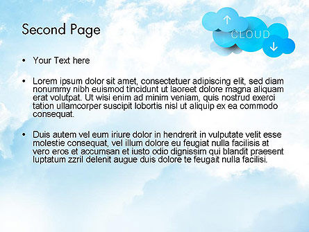 Cloud Technology Concept PowerPoint Template, Slide 2, 11977, Technology and Science — PoweredTemplate.com