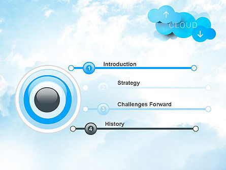 Cloud Technology Concept PowerPoint Template, Slide 3, 11977, Technology and Science — PoweredTemplate.com