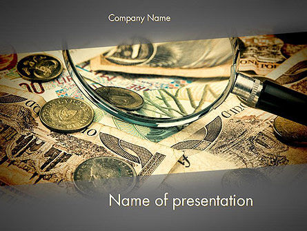 Financial/Accounting: Pile of Old European Money PowerPoint Template #11978