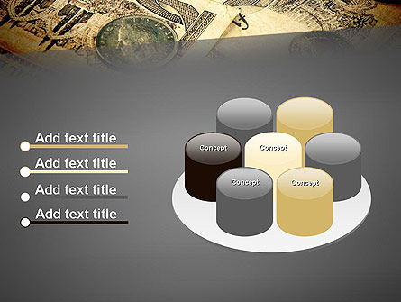 Pile of Old European Money PowerPoint Template Slide 12
