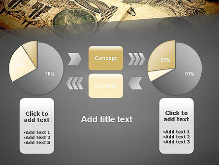 Pile of Old European Money PowerPoint Template Slide 16