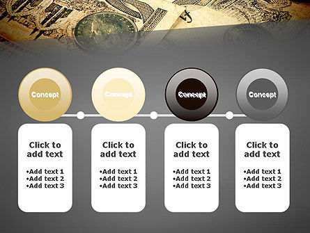 Pile of Old European Money PowerPoint Template Slide 5