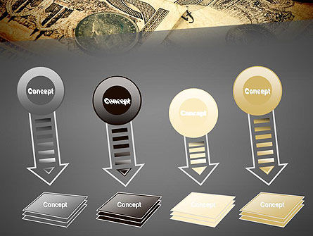 Pile of Old European Money PowerPoint Template Slide 8