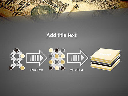 Pile of Old European Money PowerPoint Template Slide 9