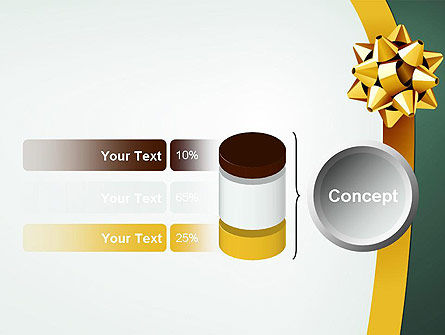 Gold Ribbon PowerPoint Template Slide 11