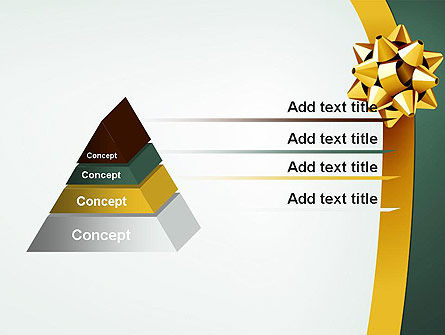 Gold Ribbon PowerPoint Template Slide 12