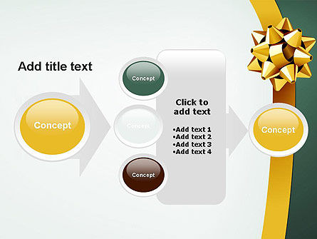 Gold Ribbon PowerPoint Template Slide 17