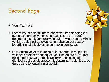 Gold Ribbon PowerPoint Template Slide 2