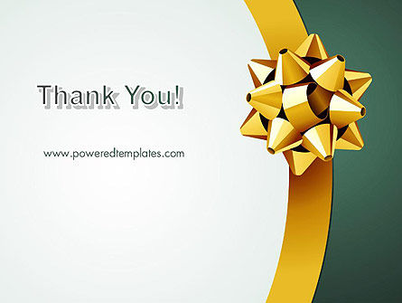 Gold Ribbon PowerPoint Template Slide 20