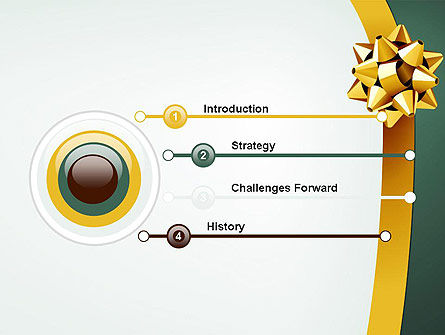 Gold Ribbon PowerPoint Template Slide 3
