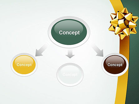 Gold Ribbon PowerPoint Template Slide 4