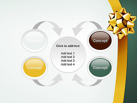 Gold Ribbon PowerPoint Template Slide 6