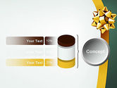 Gold Ribbon PowerPoint Template#11