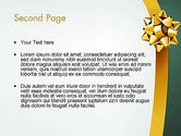 Gold Ribbon PowerPoint Template#2