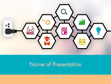 Careers/Industry: Education Steunsysteem PowerPoint Template #11981
