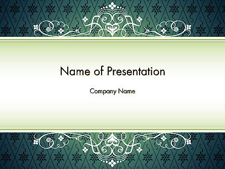 Classic Pattern PowerPoint Template, 11982, Abstract/Textures — PoweredTemplate.com