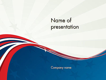 Patriotic Themed Powerpoint Template, Backgrounds | 11983