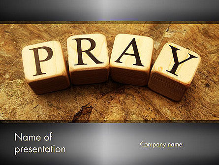 Religious/Spiritual: Time to Pray PowerPoint Template #11984