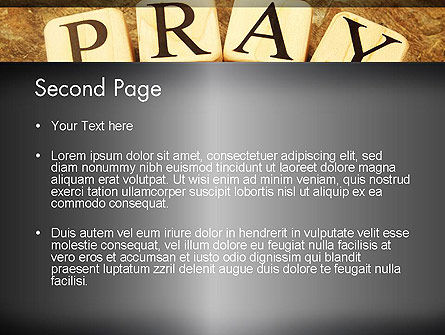 Time to Pray PowerPoint Template, Slide 2, 11984, Religious/Spiritual — PoweredTemplate.com