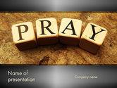 Religious/Spiritual: Modello PowerPoint - Tempo di pregare #11984